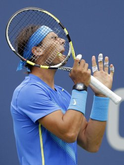 Rafael Nadal at the U.S. Open Tennis Championships in New York