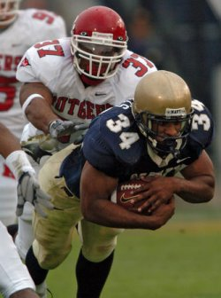 RUTGERS UNIVERSITY AT NAVAL ACADEMY FOOTBALL