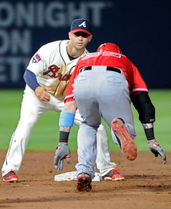 The Atlanta Braves play the Los Angeles Angels