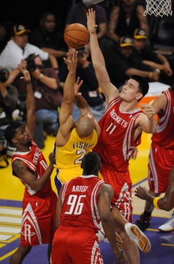 Houston Rockets vs Los Angeles Lakers in Los Angeles