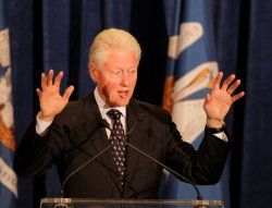 Former President Bill Clinton and Senator Mary Landrieu Campaign Event in Baton Rouge Louisiana.