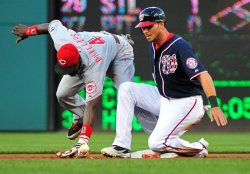 Nationals' Rick Ankiel safely slides into second in Washington