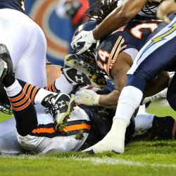 Bears Barber scores aganst Chargers in Chicago