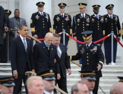 U.S. President Barack Obama marks National Medal of Honor Day in Arlington, Virginia