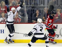 Los Angeles Kings defeat the New Jersey Devils in game 2 of the Stanley Cup Finals at the Prudential Center in New Jersey