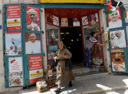 Bethlehem Shops Display Posters Of Pope Francis