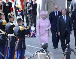 Queen Elizabeth II state visit in Paris