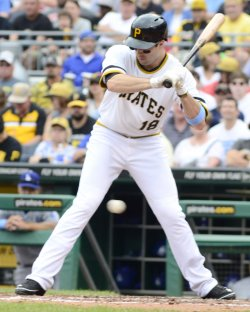 Pirates Neil Walker Hit by Pitch in Pittsburgh