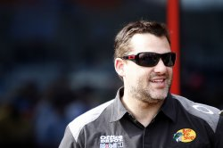 Tony Stewart before NASCAR All-Star Race at the Charlotte Motor Speedway in Concord, North Carolina