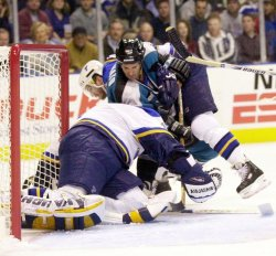 St. Louis Blues vs San Jose Sharks playoff hockey