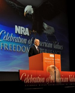 Oliver North at the NRA Annualing Meeting in Pittsburgh