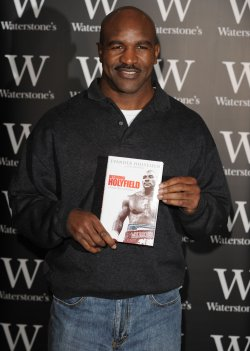 Evander Holyfield booksigning in London
