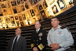 Chairman of the U.S. Joint Chiefs of Staff, Admiral Michael Mullen visits Yad Vashem Holocaust Museum in Jerusalem