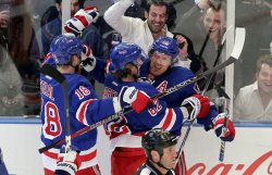 New York Rangers host the Washington Capitals in Game 7 of the the Eastern Conference Semi Final at Madison Square Garden in New York
