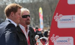 Prince Harry and Sir Richard Branson at the 2013 London Marathon.