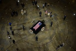 Sen. Daniel Inouye lies in state in the Capitol Rotunda in Washington, DC
