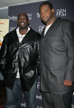 """Kevin Brown and Mark Chapman arrive at the """"Black Dynamite"""" Premiere in New York"""
