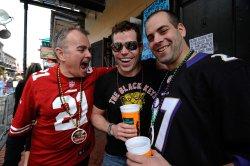 Super Bowl XLVII fans visit French Quarter in New Orleans