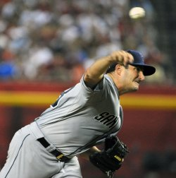 Marquis delivers a pitch in Arizona