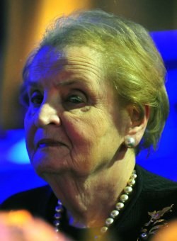 Madeleine Albright attends the Honoring Global Leaders for Peace gala in Washington