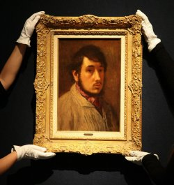 Elizabeth Taylor's Edgar Degas Self-Portrait at Christie's Auction House