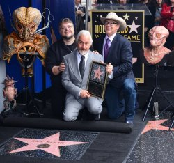 Rick Baker receives a star on the Hollywood Walk of Fame in Los Angeles