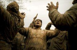 Iranian Muslims celebrate Ashura Religious Festival in Bijar, Iran