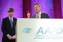 Rep. Kennedy and Edward Kennedy Jr. attend AAPD in Washington