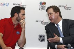 Brian France and Jimmie Johnson at All-Star Race in Concord, North Carolina