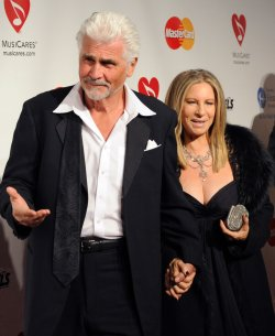 Barbra Streisand and James Brolin arrive at MusiCares Person of the Year tribute in Los Angeles