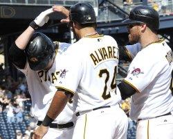Pirates Brandon Wood Hit three run homer in Pittsburgh