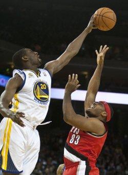 Golden State Warriors vs Portland Trailblazers in Oakland, California