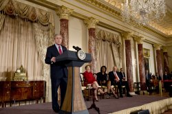 U.S. President Bush honors Foreign Policy achievements at the State Department in Washington
