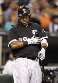 White Sox Ramirez stands on deck against Twins in Chicago