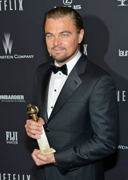 Leonardo DiCaprio attends the Weinstein Company and Netflix 2014 Golden Globes After Party