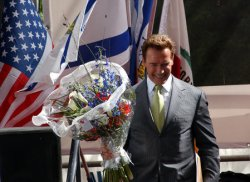 GOVERNOR ARNOLD SCHWARZENEGGER IN JERUSALEM