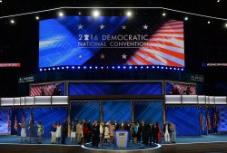 Members of the Congressional Black Caucus address delegates at the DNC convention in Philadelphia
