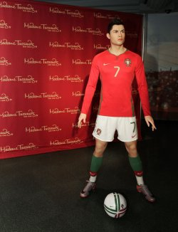 Cristiano Ronaldo wax figure at Madame Tussauds in New York