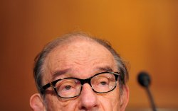 Former Fed Chairman Alan Greenspan testifies on tax reform in Washington