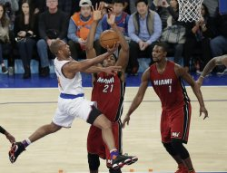 New York Knicks Arron Afflalo leaps to the basket