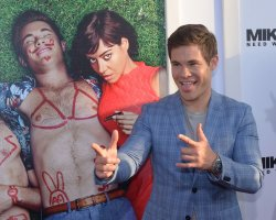 "Adam Devine attends the ""Mike and Dave Need Wedding Dates"" premiere in Los Angeles"