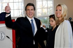 Gubernatorial candidate Andrew Cuomo votes in New Castle, New York