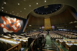 The newly renovated General Assembly Hall at the United Nations