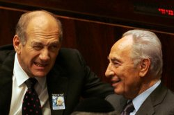 Israeli PM Olmert Attends Rabin Memorial