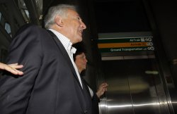 Former International Monetary Fund Chief Dominique Strauss-Kahn at JFK Airport in New York