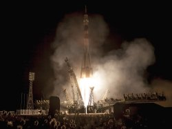 Soyuz Rocket Launches from Kazakhstan