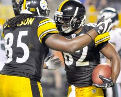 Steelers Jerricho Cotchery celebrates TD in Pittsburgh