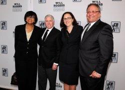 Cheryl Boone Isaacs, Dan Fellman, Elizabeth Frank and Gerry Lopez appear at the 2014 CinemaCon in Las Vegas