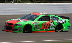 Danica Patrick practices for the Brickyard 400 at the Indianapolis Motor Speedway