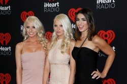 Emily Ferguson, Haley Ferguson and Ashley Iaconetti arrive for the iHeartRadio Music Festival